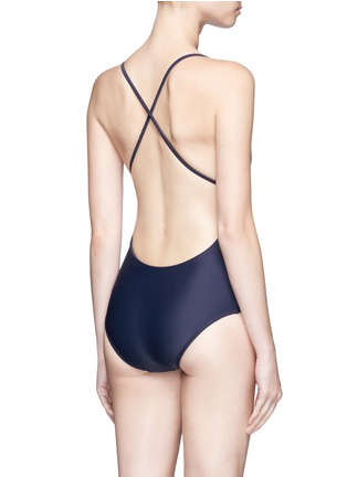 Back View - Click To Enlarge - Matteau Swim - 'The Cross Back' one-piece swimsuit
