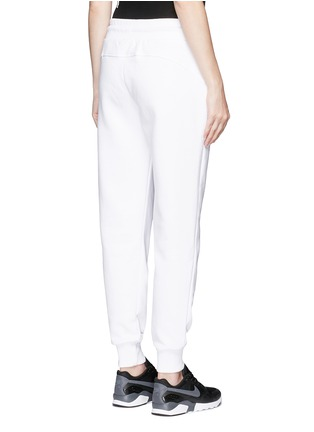 Back View - Click To Enlarge - Ivy Park - Chenille logo fleece cotton blend sweatpants