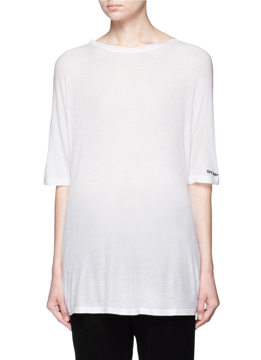 Oversized rib knit T-shirt by Topshop
