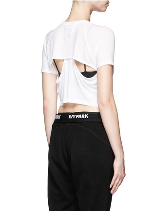 Back View - Click To Enlarge - Topshop - Racerback cutout cropped T-shirt