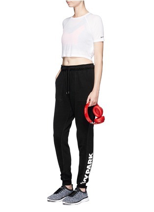 Figure View - Click To Enlarge - Topshop - Racerback cutout cropped T-shirt