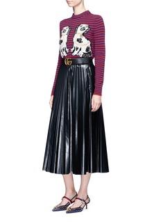 Gucci King Charles Spaniel intarsia wool sweater