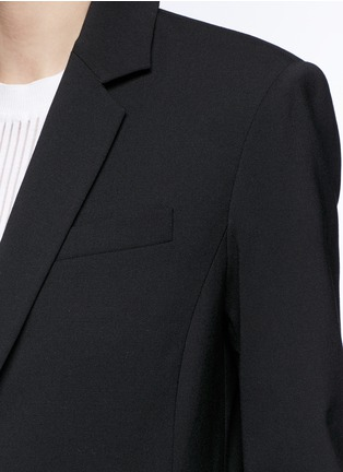 Detail View - Click To Enlarge - Alexander Wang  - Satin triangle closure virgin wool blend blazer