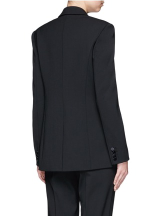 Back View - Click To Enlarge - Alexander Wang  - Satin triangle closure virgin wool blend blazer