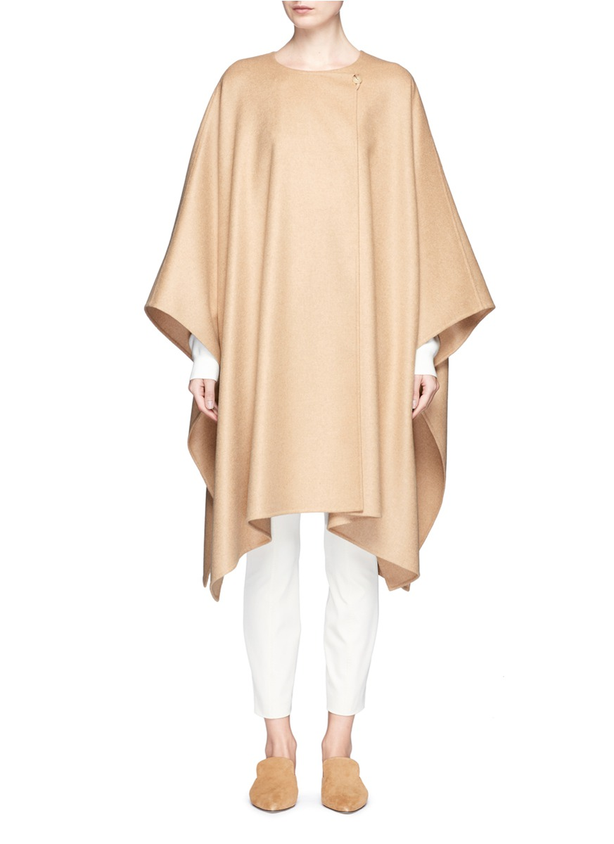 the row female marcella felted virgin wool blend cape coat