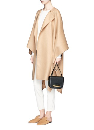 Figure View - Click To Enlarge - The Row - 'Marcella' felted virgin wool blend cape coat