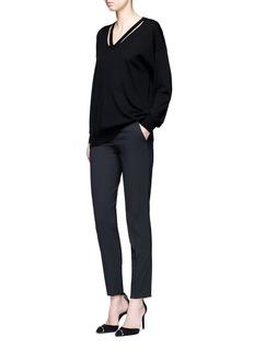 Alexander Wang Cut out V-neck Merino wool sweater