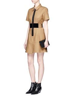 Alexander Wang Laced belt twill safari dress