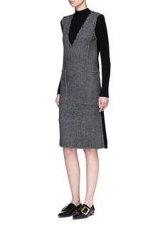 MO&CO. EDITION 10Glen plaid plunge V-neck dress