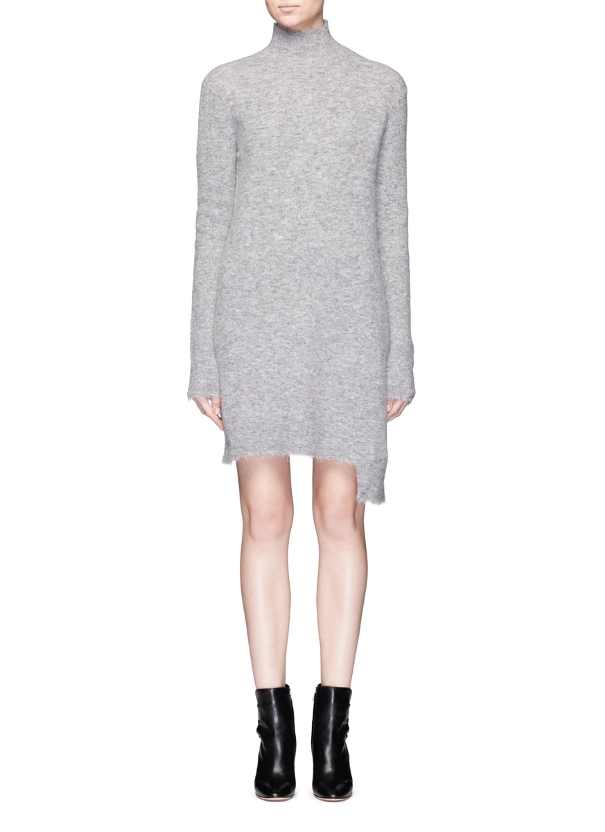 Asymmetric hem turtleneck sweater dress by MO & CO. EDITION 10