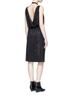 Marc Jacobs Glitter pinstripe plunge back dress