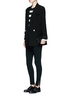 Calvin Klein CollectionStripe sheer jersey long sleeve T-shirt