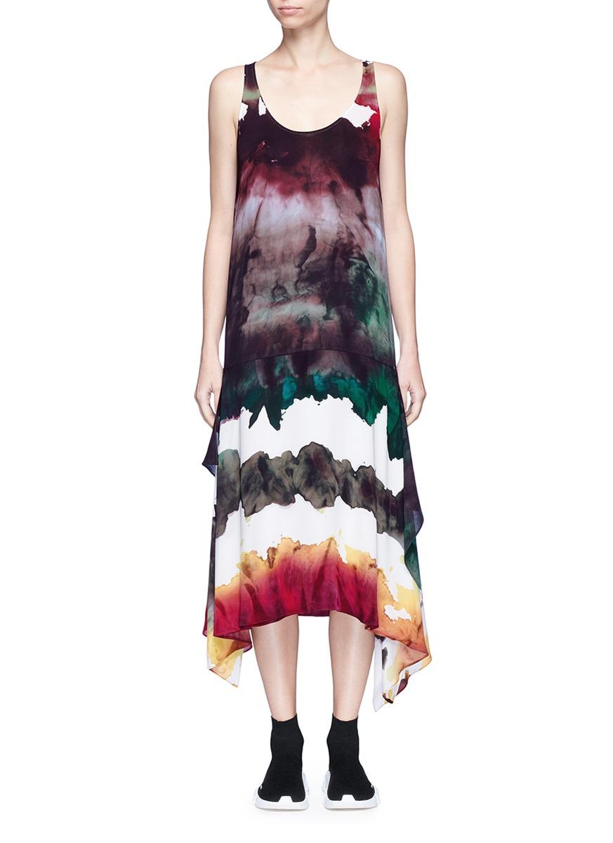 Saleh watercolour print georgette dress by Acne Studios