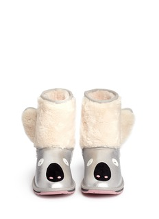 EMU AUSTRALIA 'Koala Glitter' metallic leather kids boots