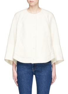 CHLOÉ Cape Sleeve Virgin Wool Blend Jacket