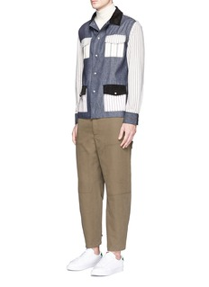 Maison Kitsuné'Kino' patchwork cotton shirt