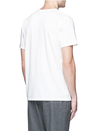 Maison Kitsuné - Fox embroidery cotton T-shirt