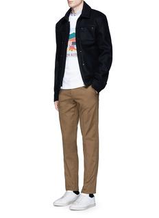 Maison Kitsuné'Hangar' print cotton sweatshirt