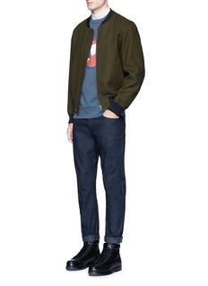 Maison Kitsuné'Fox Moon' print cotton sweatshirt