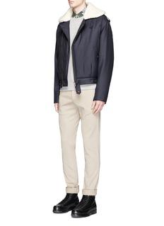 Maison Kitsuné'Kaori' faux shearling padded jacket