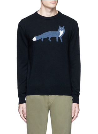 Main View - Click To Enlarge - Maison Kitsuné - Fox intarsia wool sweater