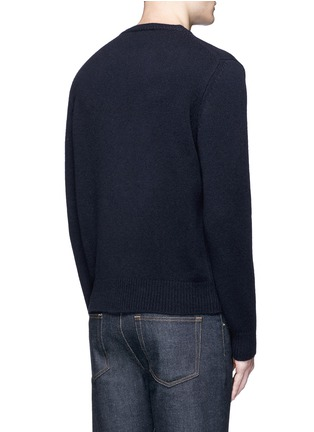 Back View - Click To Enlarge - Maison Kitsuné - Fox head intarsia lambswool sweater