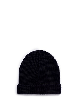 Figure View - Click To Enlarge - Maison Kitsuné - Fox patch wool beanie
