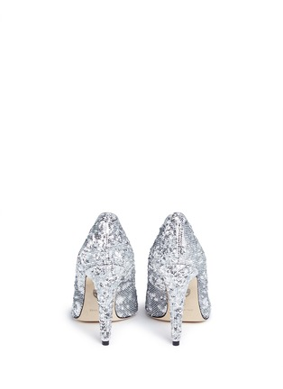 Back View - Click To Enlarge - Chiara Ferragni - 'Flirting' eye wink sequin pumps