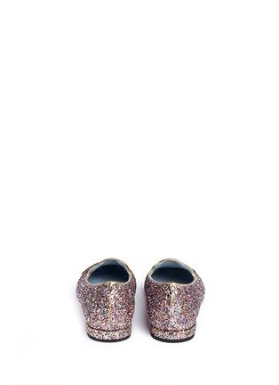 Chiara Ferragni-'Flirting' eye wink appliqué glitter flats