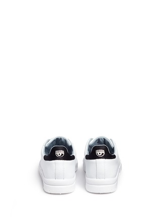 Back View - Click To Enlarge - Chiara Ferragni - 'Roger' logo collar leather sneakers