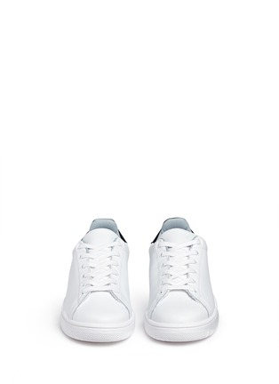 Front View - Click To Enlarge - Chiara Ferragni - 'Roger' logo collar leather sneakers