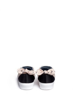 Back View - Click To Enlarge - Chiara Ferragni - Bandana print eye embroidery skate slip-ons