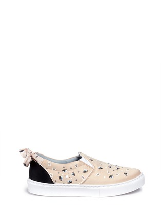 Main View - Click To Enlarge - Chiara Ferragni - Bandana print eye embroidery skate slip-ons