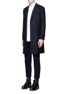 JohnundercoverRaw edge wool coat