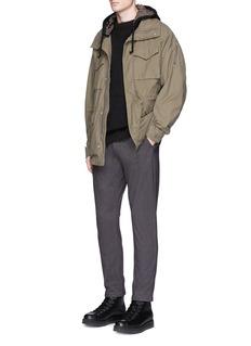 JohnundercoverSide zip cotton hoodie