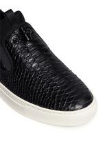 'Loops' python embossed leather skate slip-ons