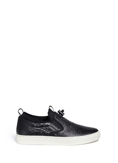 Ash 'Loops' python embossed leather skate slip-ons