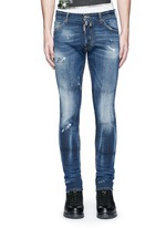 'Cool Guy' distressed slim fit jeans