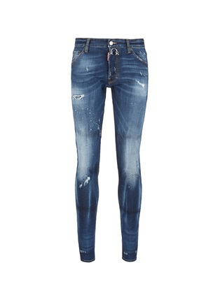 Main View - Click To Enlarge - Dsquared2 - 'Cool Guy' distressed slim fit jeans