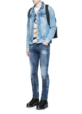 Figure View - Click To Enlarge - Dsquared2 - 'Cool Guy' distressed slim fit jeans