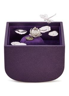 Édéenne Diamond tsavorite jade 18k gold floral ring