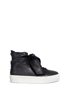 Eugène Riconneaus 'Calcuta' bow leather high top sneakers