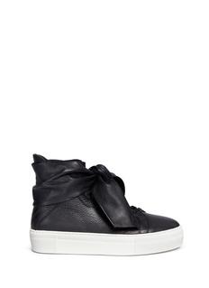 Eugène Riconneaus'Calcuta' bow leather high top sneakers