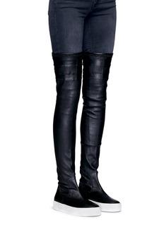 Eugène Riconneaus'E-High' thigh high lambskin leather sneaker boots