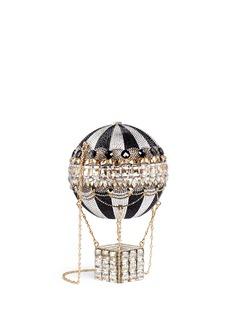 JUDITH LEIBER'Hot Air Balloon' crystal pavé minaudière