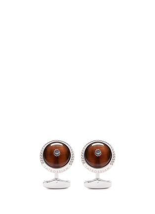 Main View - Click To Enlarge - Tateossian - 'Chrysanthemum' tiger's eye cufflinks