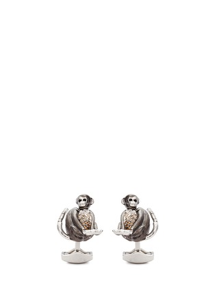 Tateossian - 'Mechanimal Monkey' Swarovski crystal gradient cufflinks