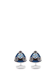 TateossianRotating trio gear cufflinks