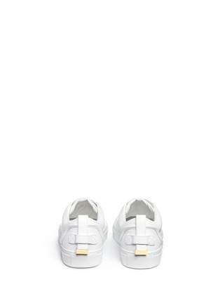 Back View - Click To Enlarge - Buscemi - '50MM' buckle strap leather sneakers