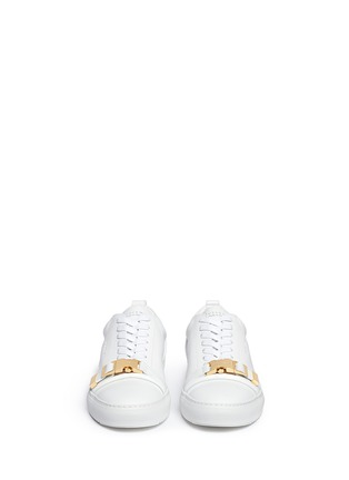 Front View - Click To Enlarge - Buscemi - '50MM' buckle strap leather sneakers